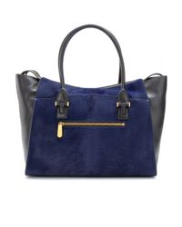 Smythson Blue Eliot Large Leather Tote