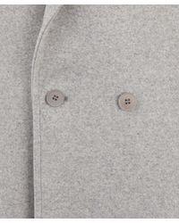 Stella McCartney Gray Grey Eloisa Double Breasted Woolblend Coat
