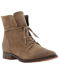 Steve Madden Brown Rawling Suede Ankle Boots
