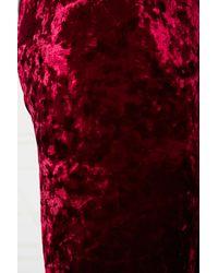 Urban Outfitters Red Crushed Velvet Leggings in Burgundy