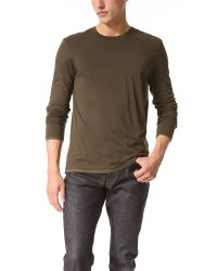 Vince Natural Double Layered Crew Neck T-shirt for men