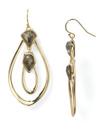 Alexis Bittar Metallic Hyperion Orbiting Aura Pyrite Wire Earrings