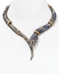 Alexis Bittar - Purple Jardin De Papillon Cabochon Encrusted Snake Necklace 18 - Lyst