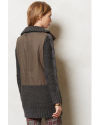 Anthropologie   Green Dorsey Sweater Jacket   Lyst