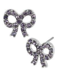 Betsey Johnson | Metallic Iconic Bow Earrings | Lyst