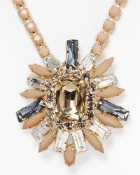 Cara - Metallic Blush Flower Pendant Necklace 22 - Lyst