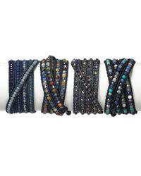 Chan Luu - Five Wrap Blue Mix Leather Bracelet - Lyst