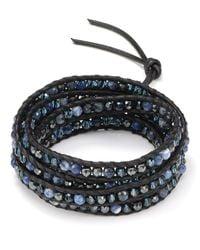 Chan Luu - Blue Five Wrap Leather Bracelet with Sodalite Stones - Lyst