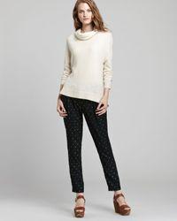 Joie White Sweater Chesney Chevron Knit