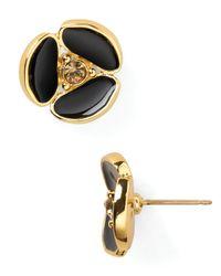 kate spade new york | Metallic Disco Pansy Stud Earrings | Lyst