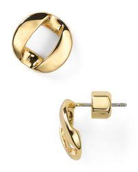 Marc By Marc Jacobs | Metallic Link To Katie Stud Earrings | Lyst