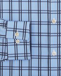 Michael Kors | French Blue Plaid Dress Shirt Regular Fit for Men | Lyst