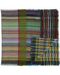 Wallace Sewell - Gray Textured Multistripe Scarf - Lyst