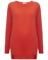 Whistles Orange Devon Longline Angora Knitted Jumper