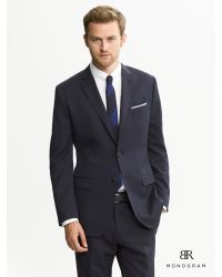 12ad994a8cfb Banana Republic Br Monogram Dark Navy Wool Suit Jacket in Blue for ...