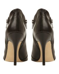 Dune Black Nami Double Zip Pointed Toe Shoe Boots