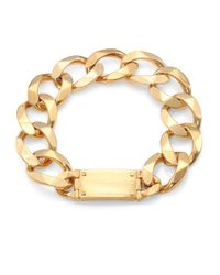 Michael Kors - Metallic Oversized Curb Chain Logo Necklace - Lyst