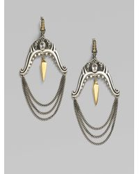 Stephen Webster | Metallic Sterling Silver Shark Jaw Chain Earrings | Lyst