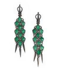 Stephen Webster | Metallic Jade & Sterling Silver Drop Earrings | Lyst