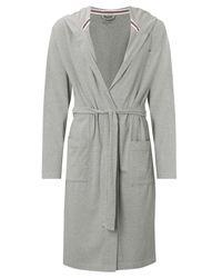 Tommy Hilfiger Gray Stillman Bath Robe for men