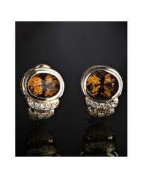 Judith Ripka | Metallic Honey Citrine and Diamond Shrimp Earrings | Lyst