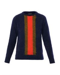 Sophie Hulme Blue Stripe Angora Sweater
