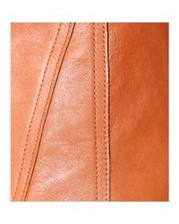 3.1 Phillip Lim - Brown Leather Skirt - Lyst