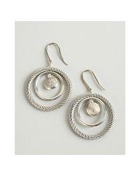 David Yurman - Metallic Diamond and Sterling Silver Cable Mobile Dangling Earrings - Lyst