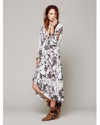 Free People Gray Breathing Jasmine Cold Shoulder Dress