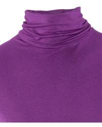 H&M Purple Polo Neck Top
