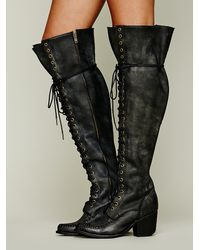 Lyst Jeffrey Campbell James Lace Up Boot In Black