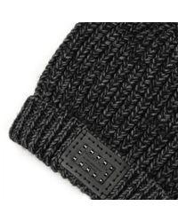 Philipp Plein Black Chunky Knit Beanie Hat