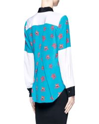 Prabal Gurung - Multicolor Floral Print Silk Shirt - Lyst