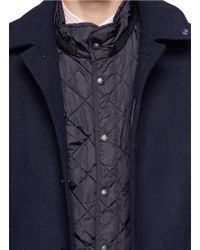 Scotch & Soda Blue Single Breasted Short Coat for men