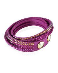 Swarovski - Purple Slake Wrap Bracelet - Lyst