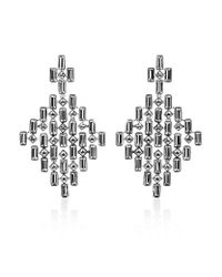 Swarovski | Metallic Viola Chandelier Earrings | Lyst