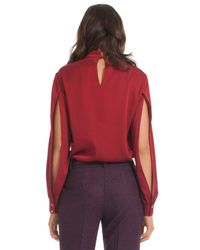 Trina Turk - Red Stand Top - Lyst