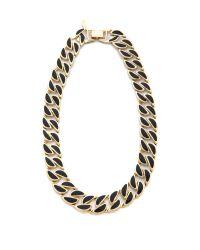 Adia Kibur | Black Weave Link Necklace | Lyst