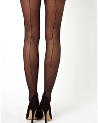 ASOS - Black Gold Seam Tights - Lyst