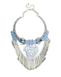ASOS - Blue Moon Jewel Necklace - Lyst