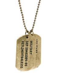G-Star RAW - Metallic Asos Dog Tag Necklace for Men - Lyst