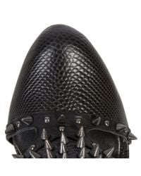 BCBGMAXAZRIA - Black Hersh Studded Cut-out Leather Boots - Lyst