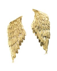 Bernard Delettrez - Metallic Bronze Wings Earrings - Lyst
