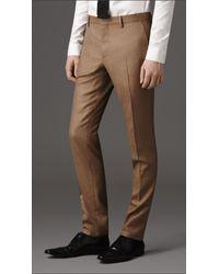Burberry Brown Slim Fit Lightweight Cashmere Suit for men