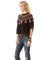 Carolina K | Black Guate Fringe Sweater | Lyst