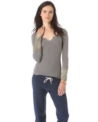 Free People Gray So In Love With You Tank