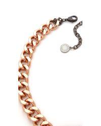 Gemma Redux - Pink Chain Necklace - Lyst