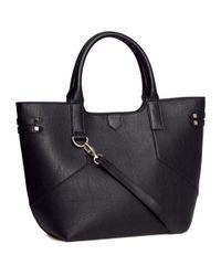H&M - Black Shopper - Lyst