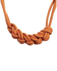 ASOS | Orange Just Acces Rope Cord Necklace | Lyst