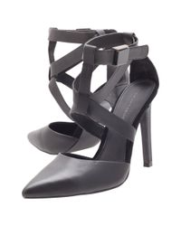 KG by Kurt Geiger Black Christy Strappy Court Shoes